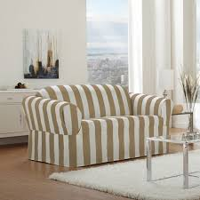 Striped Slipcovers For Sofas Sure Fit Cabana Stripe Relaxed Fit Sofa Slipcover Walmart Canada