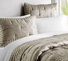 Silk Comforters Silk Tufted Quilt U0026 Shams Pottery Barn