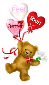 feel better bears sorry o you are not feeling i you are better soon