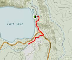 map of oregon springs newberry crater trail to east lake springs oregon maps