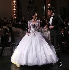 Long Sleeve Wedding Dresses V Neck Keyhole Backless Ball Gown Beading Long Sleeves Wedding