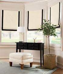 bordered roman shade cordless country curtains