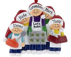 baking cookies with grandma or mom 4 children personalized orna