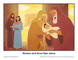 simeon and anna saw jesus story illustration children u0027s bible
