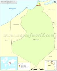Blank Map Of Egypt by Where Is Rashid Location Of Rashid In Egypt Map