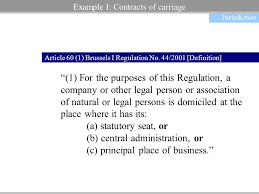 Council Regulation Ec No 44 2001 Brussels Two Exles Of Recent Developments In European