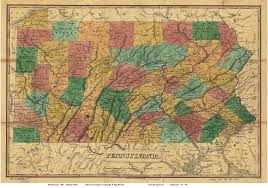 Map Of Counties In Pennsylvania by Old Maps Of Pennsylvania