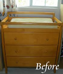 Brown Changing Table With Power Tools Refinished Dresser Changing Table