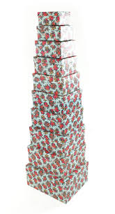 Christmas Decoration Storage Boxes Uk by Floral Rectangle Hard Cardboard Craft Storage Xmas Brithday Gift Box