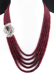 ruby bead necklace images Ruby necklace black diamond clasp in houston buy black diamond jpg