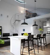 Oak Breakfast Bar Table Kitchen Room Wonderful Small Apartment Kitchen Design White