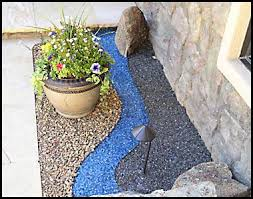 Colored Rocks For Garden Fireglass Used To Add Interest And Color To Area Drought