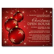 elegant christmas open house invitation template postcard open