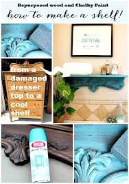 repurposed shelf with krylon chalky spray paint refresh restyle