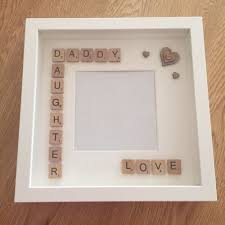 diy home decor gifts handmade daddy daughter fathers day gift scrabble art frame