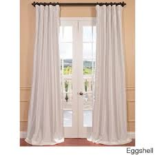 faux silk taffeta solid blackout curtain panel ping great deals on eff curtains