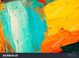 hand drawn oil painting abstract art stock illustration 711055492