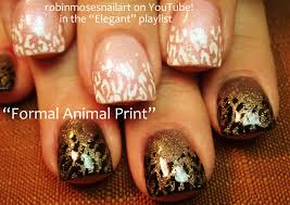 robin moses nail art cutest wedding animal print nails 2 designs