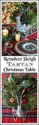 reindeer sleigh tartan christmas table and centerpiece u2013 home is