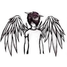 fallen angel clipart pencil drawing pencil and in color fallen