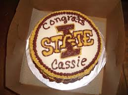 college graduation cake iowa state university cakecentral com