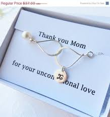 Card For Bride From Groom On Sale Thank You Mom Card Set Personalized Infinity Bracelet