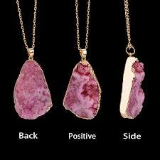 crystal pendant necklace aliexpress images Docona blue red purple brazilian irregular natural stone quartz jpg
