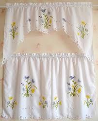 Amazon Kitchen Curtains by Elegant Daffodil Window Swag U0026 Valance Set Kitchen Curtain Panda