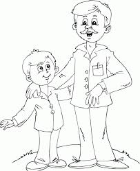 father son coloring pages printable