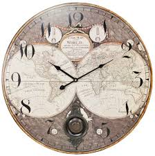 Wall Clocks by Antique Map 23