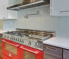 white glass subway tile kitchen backsplash wall mount pot filler faucet white glass subway tile kitchen