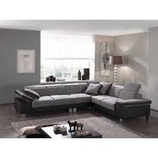 canape d angle tissu gris canapé d angle droit en tissu gris avec têtières relevables et pièt