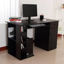 home office computer desk study pc table w storage printer shelf
