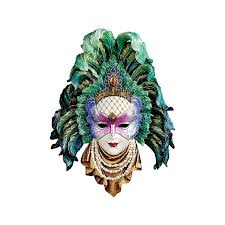 ceramic mardi gras masks design toscano maidens of mardi peacock princess gras