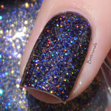 holographic glitter grace nail regal boysenberry a purple jelly with