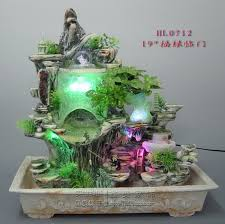 indoor water fountains resin bonsai rockery atomization