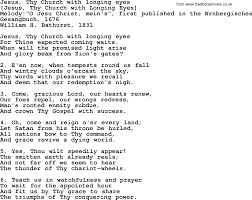 song lyrics for jesus thy church with longing