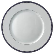 bernardaud athena platinum navy dinner plate transitional