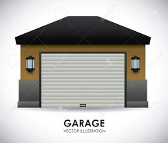 garage design vector illustration royalty free cliparts vectors