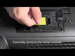 optoma tx1080 replacement l l replacement step by step instruction for optoma ex525st youtube