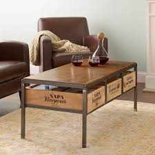 coffee tables exquisite wine stave furniture whiskey barrel