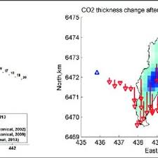 layout gravity left the gravity survey layout with contours of the co2 plume and