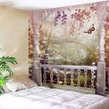 fairyland wall hanging tapestry for home decor colormix w inch l