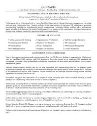 Resume Sample With Objectives by Director Of Human Resources Resume