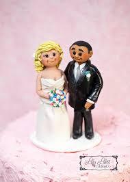 portrait custom wedding cake topper polymer clay figures bride