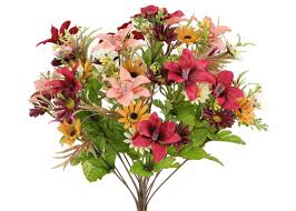 Decorative Plants For Home Admiredbynature 18 Stems Artificial Alstromeria And Daisy Mixed