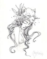 the lioness drawing graphite u0026 ink by sam flores trampt library