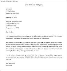 letter of intent for job position letter idea 2018