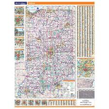 Indiana State Map Indiana Laminated State Wall Map