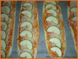 simplement cuisine chapata pizza baguette à la courgette simplement cuisine